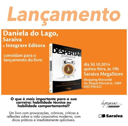 1Convite de lançamento_Despertar Profissional_Daniela do Lago_Saraiva Morumbi